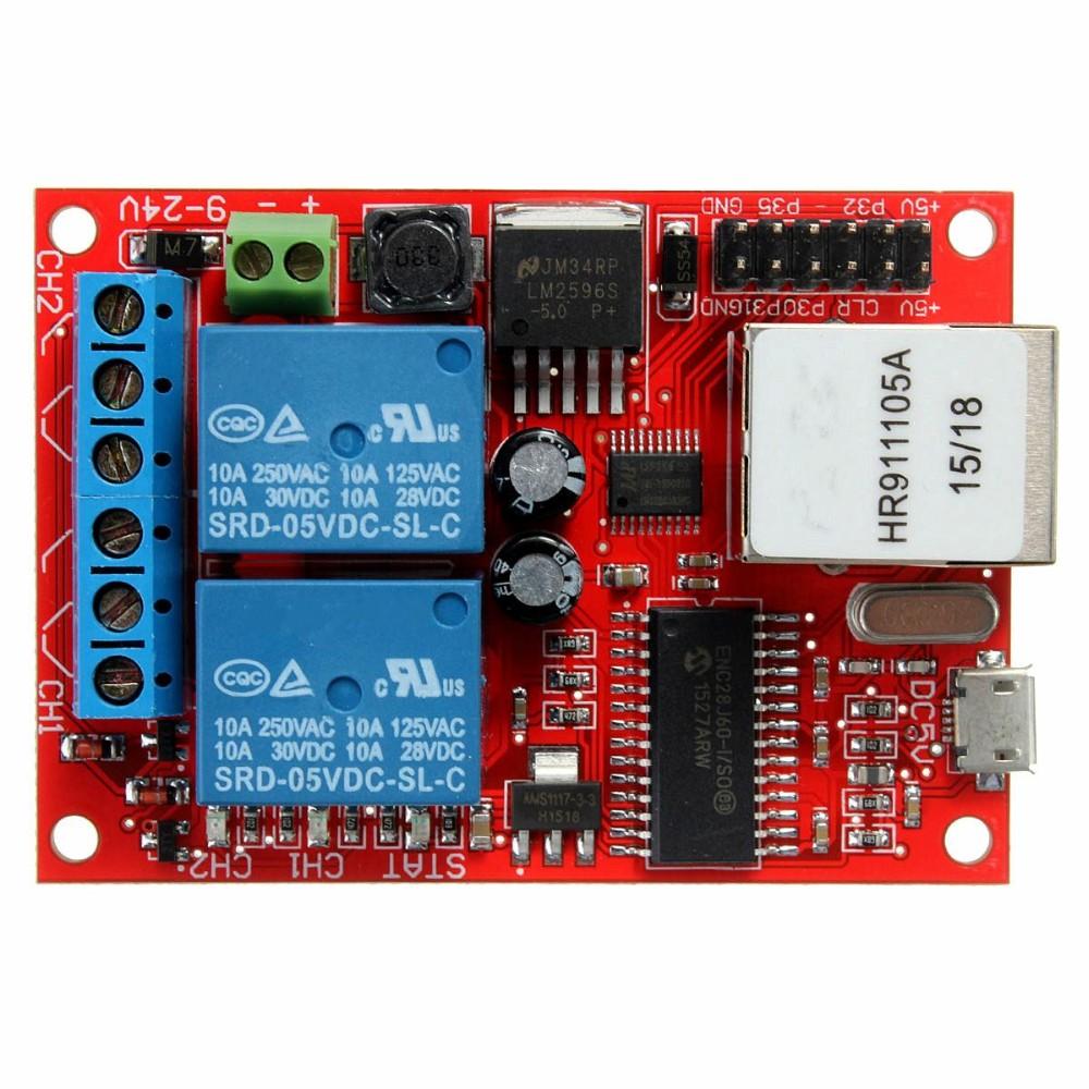 new arrival electronic kit circuit board lan ethernet 2 way relay rh sites google com