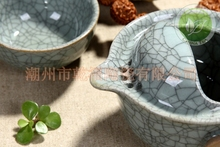China Ge Yao Kiln Travel Tea Sets Gaiwan Gongfu Quick Cup Set Quality Kungfu office Ceramic