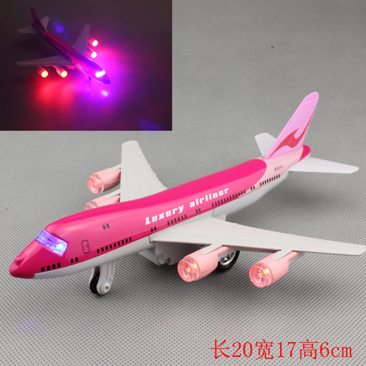model sound and light alloy aircraft model aircraft back to power children's toys on the 1st Air Force aircraft Value(China (Mainland))