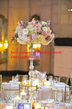 20pcs top grade acrylic crystal wedding centerpiece with candle holder/wedding road lead/wedding column/pillars/100cm tall(China (Mainland))