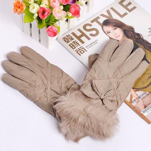 Rabbit fur wool gloves acrylic gloves ski gloves