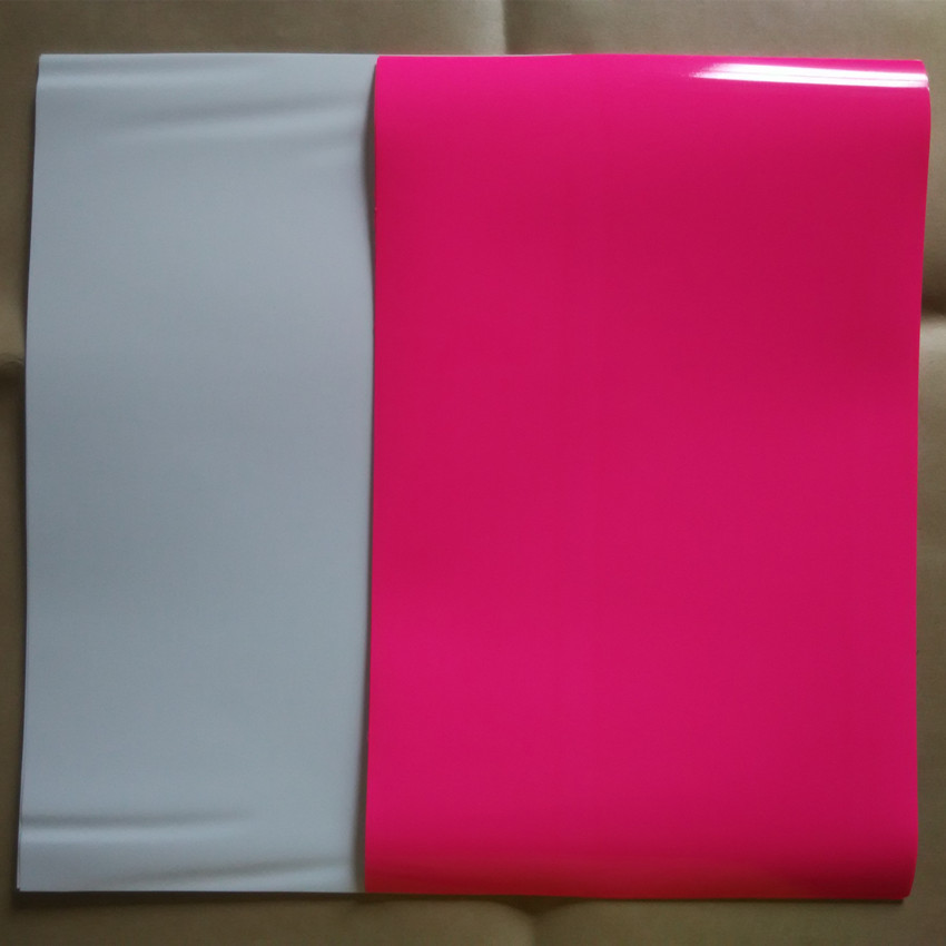 (A4*10pcs) White and Pink Color PU Vinyl Heat Transfer Paper Vinyl Textile T shirt Vinyl Film Iron On Vinyl Heat Press(China (Mainland))