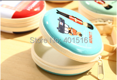 2014 New Korea Style Cute Jungle Elf Round Tin Purse Coins Purse