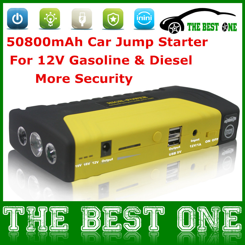 New Arrival Car Jump Starter 50800mAh Add Emergency Safety Hammer & Inside Blade Function 50800mah Power Bank Power More Durable(China (Mainland))