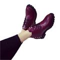 Women Ankle Boots 2016 New Arrive Women s Fashion Winter Warm Flat Rivets Oblique Zipper Martin