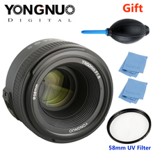 Buy YONGNUO YN 50mm f/1.8 AF Lens YN50mm Aperture Auto Focus Large Aperture Nikon DSLR Camera AF-S 50mm 1.8G + Gift Kit for $104.27 in AliExpress store