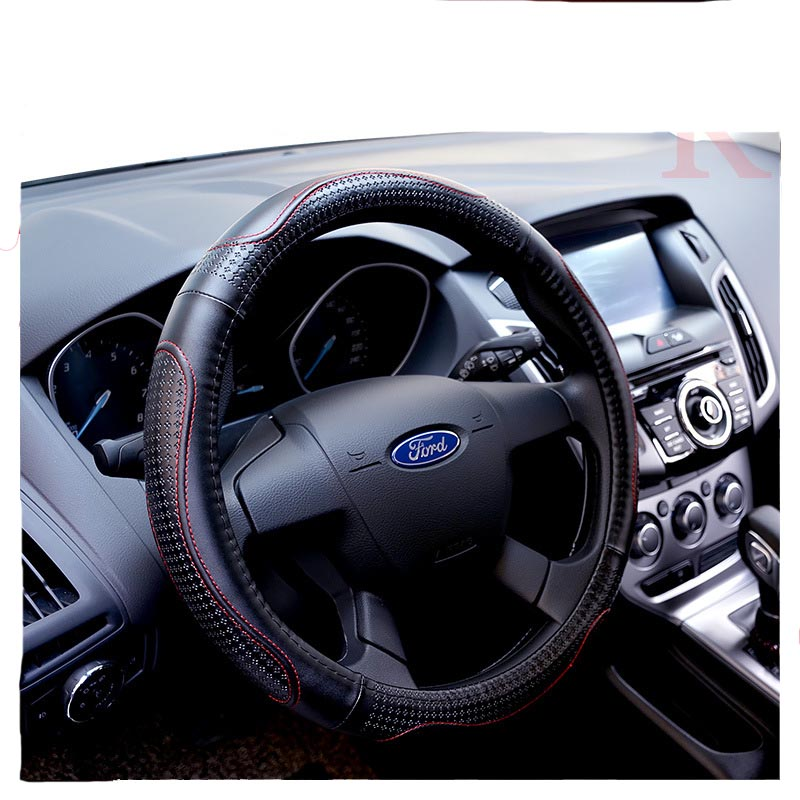 Top Layer Genuine Leather Car Steering Wheel Cover Sport Steering Covers Four Season Auto Supplier Car Steering Wheel Cases(China (Mainland))