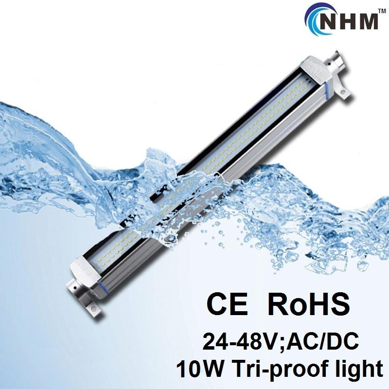NHM 10W LED tri proof lights/explosion proof lampe/Aluminum china tube/patent product/24-36V;100-240V(China (Mainland))