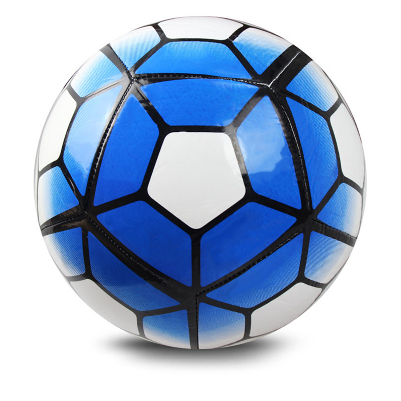 Instock 2016 New Style Machine Stitching Best Quality Size 5 Football Ball Youth Student Soccer Ball Children Match Training pum(China (Mainland))