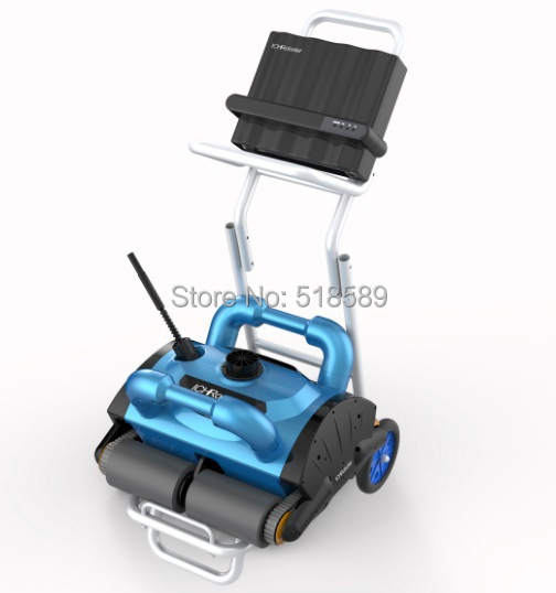 Robotic pool cleaner,swimming pool robot vacuum cleaner,swimming pool cleaning equipment with caddy cart and CE ROHS SGS(China (Mainland))