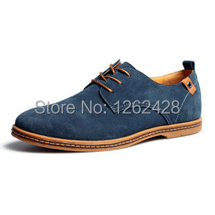 Big size 6-13 New 2014 Suede genuine leather Driver shoes men's oxfords casual Loafers  hombre      05207(China (Mainland))