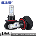 Oslamp H13 Hi Lo Beam LED Car Headlight Bulb CREE CSP Chips 50W 8000LM 6500K Auto