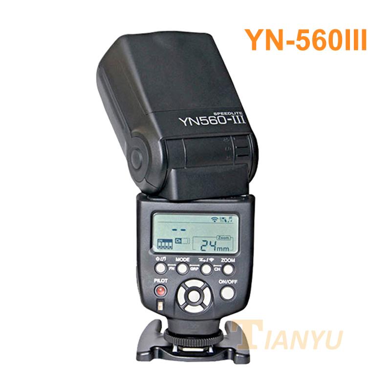 Yongnuo YN560 III YN560III Flash Speedlite Flashlight Canon Nikon Pentax Olympus Panasonic DSLR Camera Upgrade YN560 II