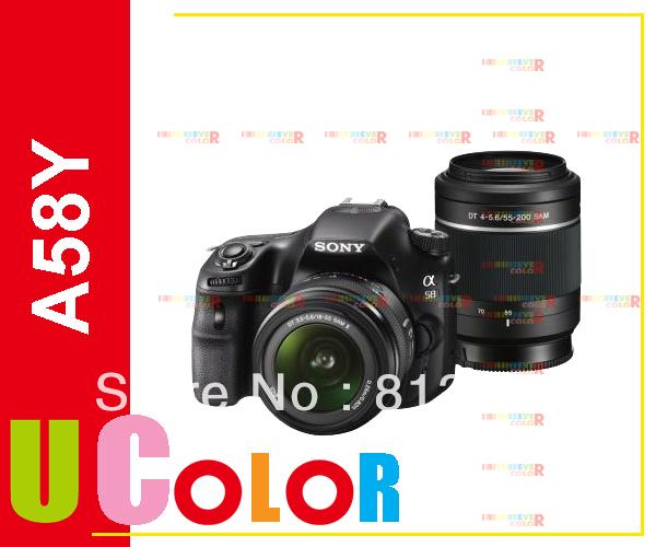 Original Sony Alpha A58 SLT-A58Y 2 Lens 18-55mm &amp; 55-200mm DSLR Camera Kit<br><br>Aliexpress
