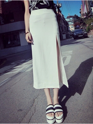 HOT! 2015 NEW Summer Fashion Hip Package Pencil One-step Skirts Slim Fit Side Slit Split Thick Chiffon Long DQ21 - Ready for Beauty store