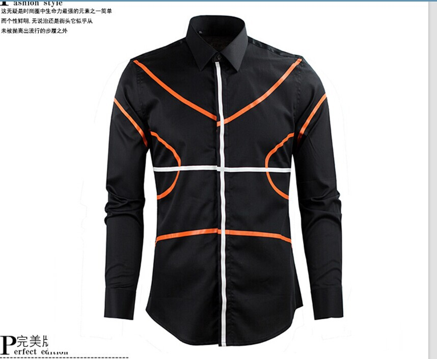 High quality new mens designer brand striped plus size Designer clothing for men online sales