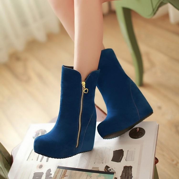 autumn winter boots elevator wedge high heels shoes fashion women pumps - JIUJIU Store store