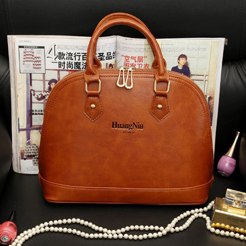 2016 New Hot Promotion Women Retro PU Leather Zipper re Color Tote Bag(China (Mainland))
