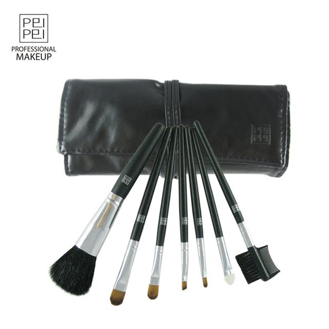 Assuming make-up portable real fur 7 brush set make-up loose powder blush eyeliner eye shadow brush