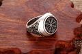 1pcs compass round pattern style viking ring mammen style runic compass scandinavian norse unisex fashion classic