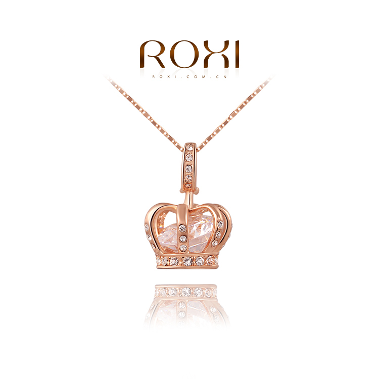 ROXI 18k gold ladies opal drop pendant crystal personalized necklaces for women fashion jewelry/ girl friend gift<br><br>Aliexpress