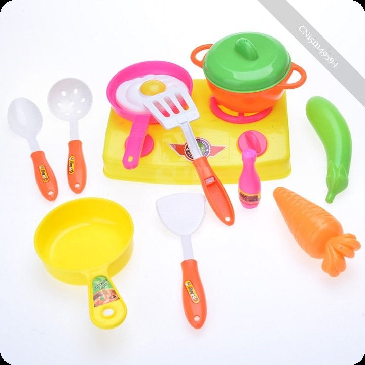 New 13PCs/Set Toy Kids Child Kitchen Cooking Tools Toy Pretend Play Role(China (Mainland))