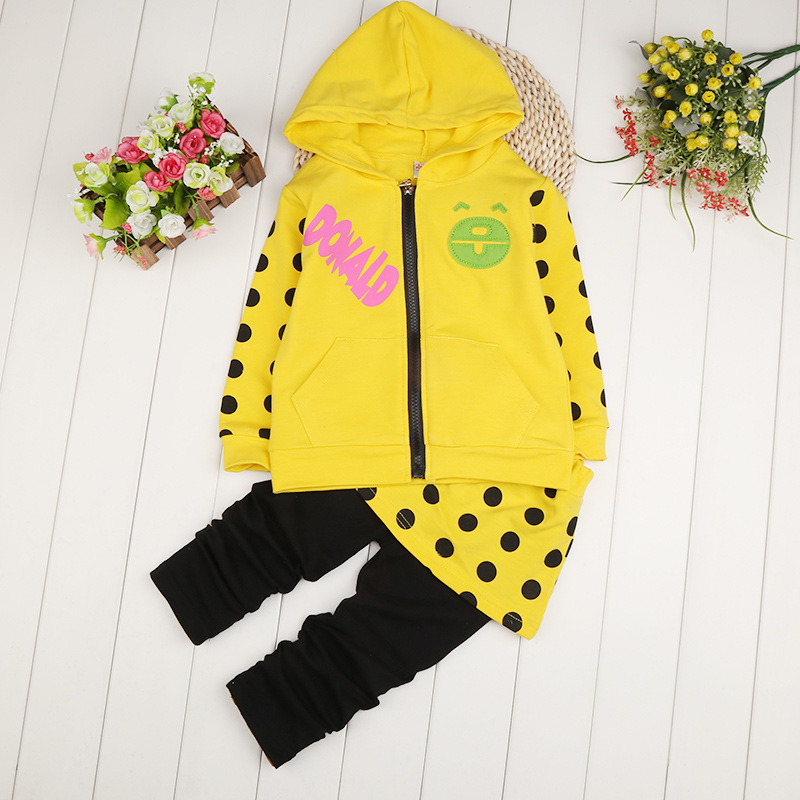 clothing shell spring 2015 dress suit for children girls pants dress cute little girl on the Korean version of leisure(China (Mainland))