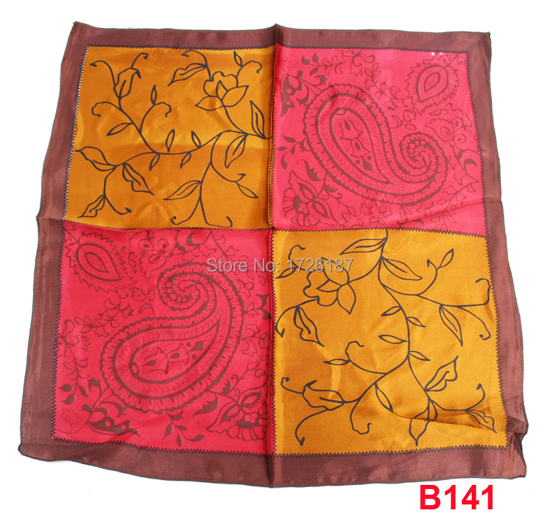 fashion KOREA FLOWER PRINTED scarves neck scarf yellow red grid wrap head neck women baby new style B141(China (Mainland))