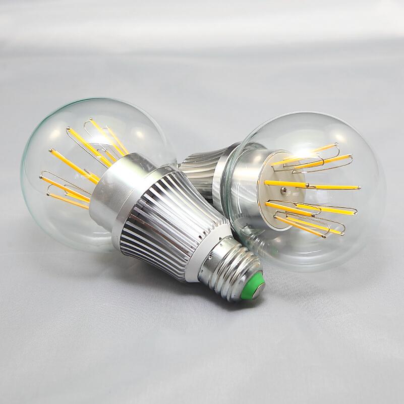 16pcs/lot 10W E27 Dimmable Led filament bulb clear grass edison light bulbs indoor led lighting 110/240V filament lamp(China (Mainland))
