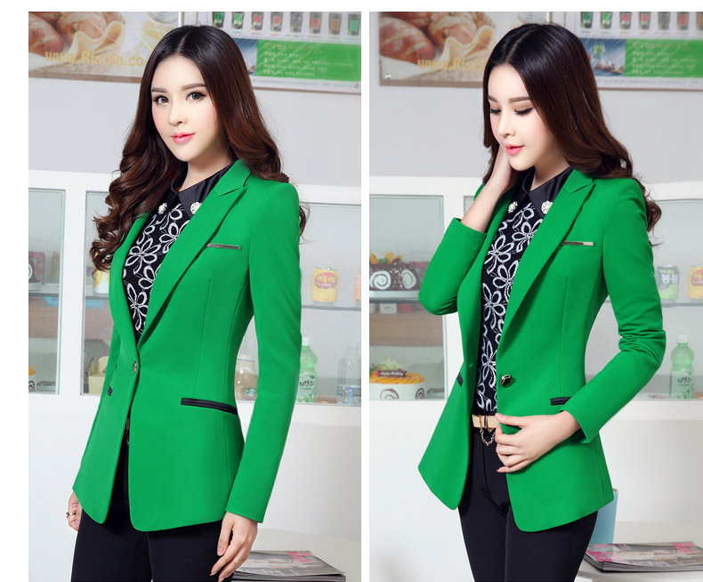2015Winter style Lady OL female long-sleeved small suit large size women's casual suit jacket suit jacket and long sections