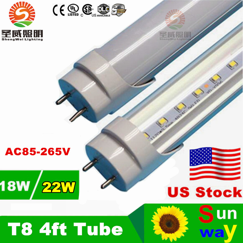 Led Tube T8 1200mm 22W 18W 4FT Integrated Led Tube T8 22W 18W LED Fluorescent Lamp G13 4 foot Tubo T8 Led Tube 1200mm 22W 18W(China (Mainland))