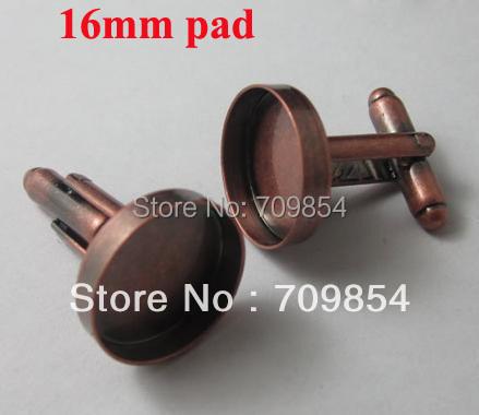 Здесь можно купить  Only DHL!!!  free shipping!!! 100pcs/lot New antique copper 16mm pad bezel blank cufflinks jewelry findings  Ювелирные изделия и часы