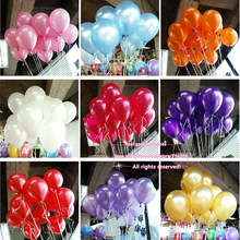 New 100pcs/lot 10inch 1.2g/pcs Latex Balloon Helium Thickening Pearl Celebration Party Wedding Birthday Decoration Balloon(China (Mainland))