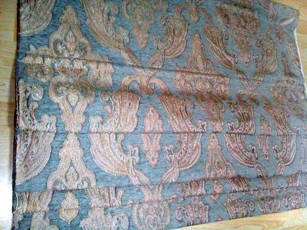 Azul bordado de luxo cortinas para quarto cortina de sombra da mais alta qualidade de cortinas romanas garcia(China (Mainland))