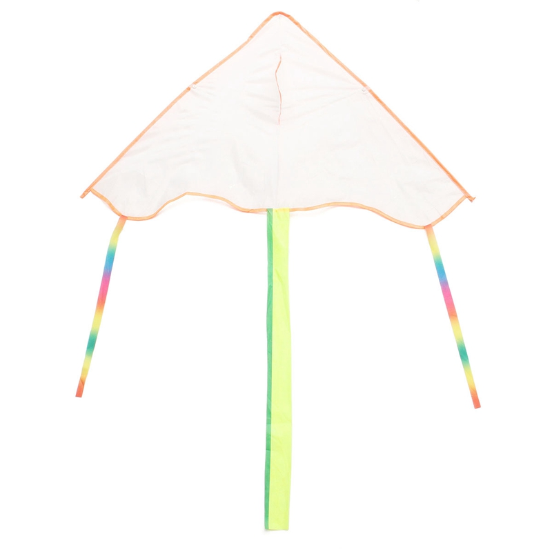 DIY Triangle Kite Blank Painting Kite Outdoor Funny Kid Toys Flying Papalote Toy Polyester Kite Without Handle Line and Pigment(China (Mainland))