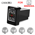 CAREUD U912 Car Wireless TPMS Tire Pressure Monitoring System with 4 External Sensors LCD Display Embedded