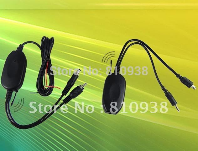 12V 2.4G Wireless Transmitter & Receiver/ 2.4G wireless car camera video transmitter and receiver for GPS 2.5mm plug with USB(China (Mainland))