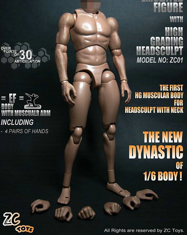 """1//6 Scale Male Hand with Rings Model For 12/"""" Male Hot Toys Figure"""