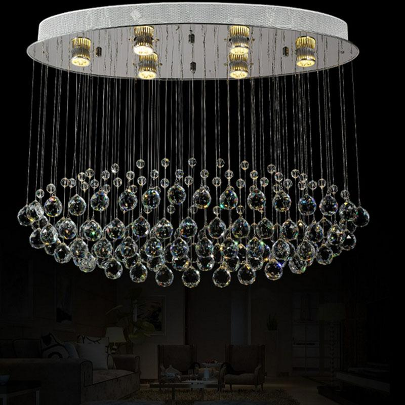Most Popular Contemporary Crystal Dining Ceiling Lamp LED lightings crystal cutain wave chandelier(China (Mainland))