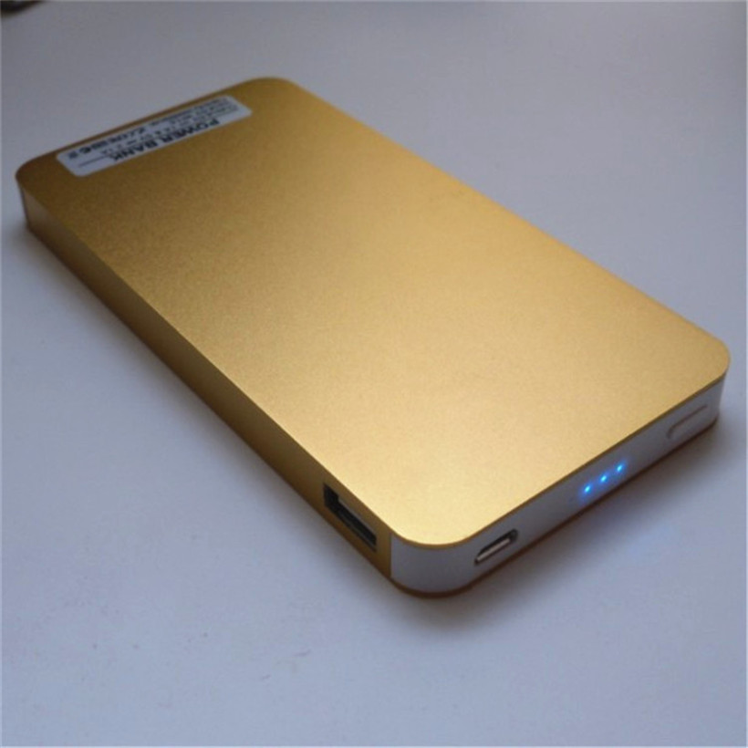Brand New gold powerbank Large capacity 200000mAh Ultra-thin Universal Mobile Power Bank Charger Battery For Galaxy S5 iPhone 6