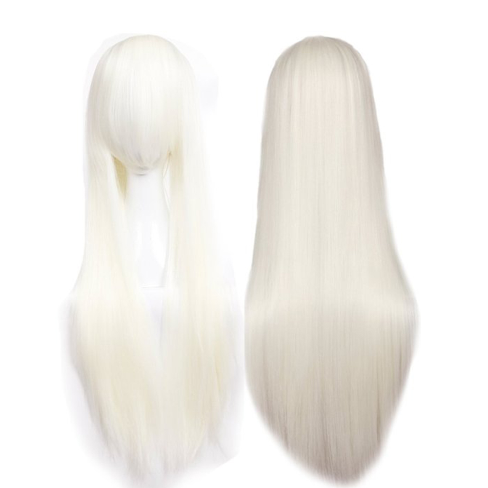 80cm Blonde Cosplay Hair Wig Long Srtaight Women Fashion Anime Comic Party Hair Style Full Wigs(China (Mainland))