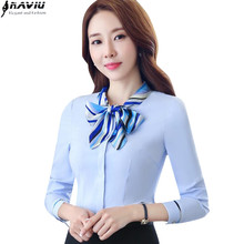 Buy Fashion OL Career bow women shirt long sleeve formal slim elegant business chiffon blouse office ladies plus size work wear tops ) for $13.27 in AliExpress store