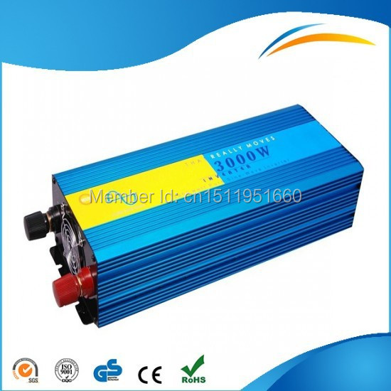 For Refrigerator! Factory High Quality Solar Hybrid Off-Grid DC To AC Pure Sine Wave Inverter Invertor 3000W 12V 220V(China (Mainland))