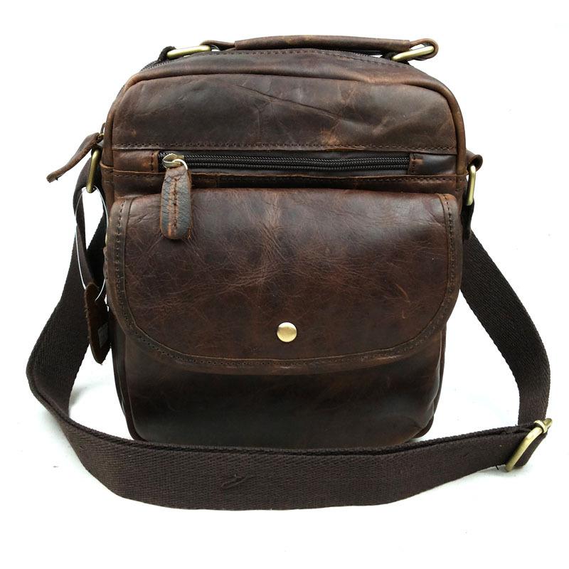 Genuine Leather Man Shoulder Bags Crazy Horse Man Handbag Hot Sale Man Messenger Bags 2015 Vintage Fashion Casual Man Bags(China (Mainland))