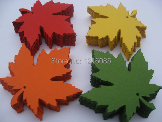 Maple Leaves, 4 inch. CHOOSE Your COLORS. Escort Cards, Fall Or Summer Wedding, Favors Thank You Tags, Wish Tree, Gift Tags(China (Mainland))