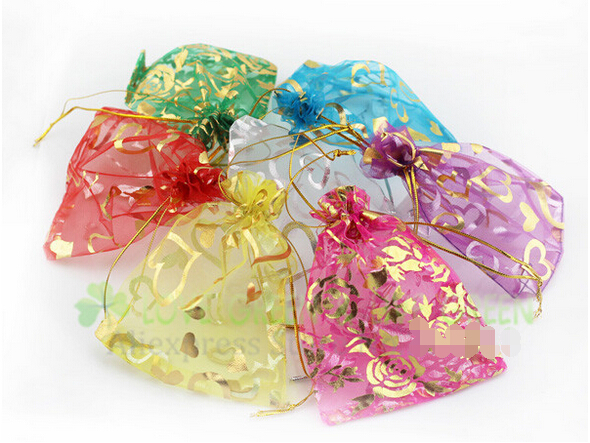 free shipping lowest Price fashion Jewelry Necklace Pendant Earrings Ring Bracelet Gift organza silk bags pounch packing 9x7cm(China (Mainland))