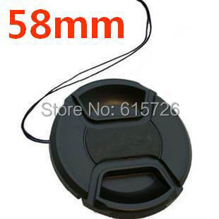 Free shipping 58mm center pinch Snap-on cap cover LOGO for nikon 58 mm Lens<br><br>Aliexpress