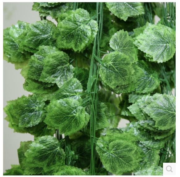 (26 pcs/lot) 240cm Simulation artificial grape vine fruit shop decoration wholesale rattan flower ceiling decorativefake vines(China (Mainland))