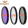 KnightX 49 52 55 58 62 67 72 77 mm FLD UV CPL lens Filter for