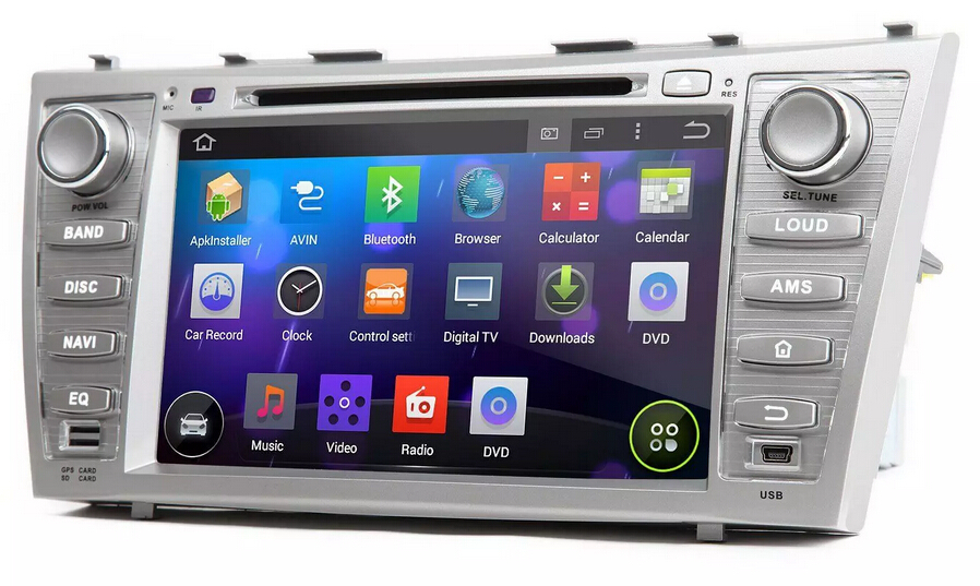 Android 4.4 7 inch car radio for TOYOTA CAMRY car dvd player GPS,steering wheel control,bluetooth,support rear camera free map<br><br>Aliexpress